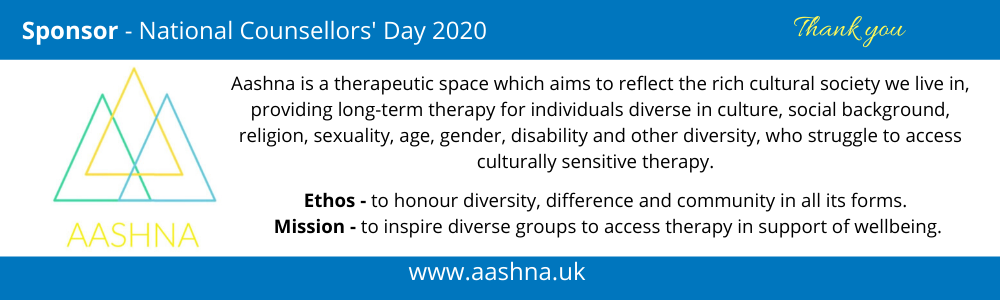Sponsor - National Counsellors' Day 2020 Aashna