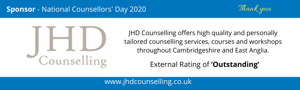 Sponsor - National Counsellors' Day 2020 - JHD Counselling