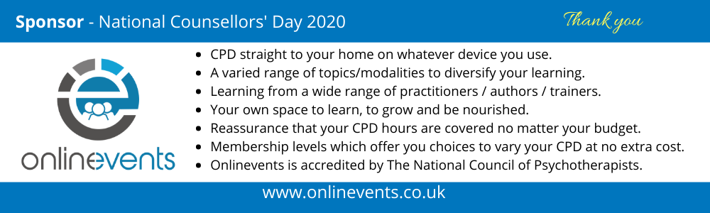 Onlinevents Sponsor of National Counsellors' Day 2020